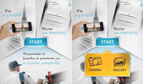 Aplicaţia prin care se pot trimite cărți poștale de pe telefonul mobil